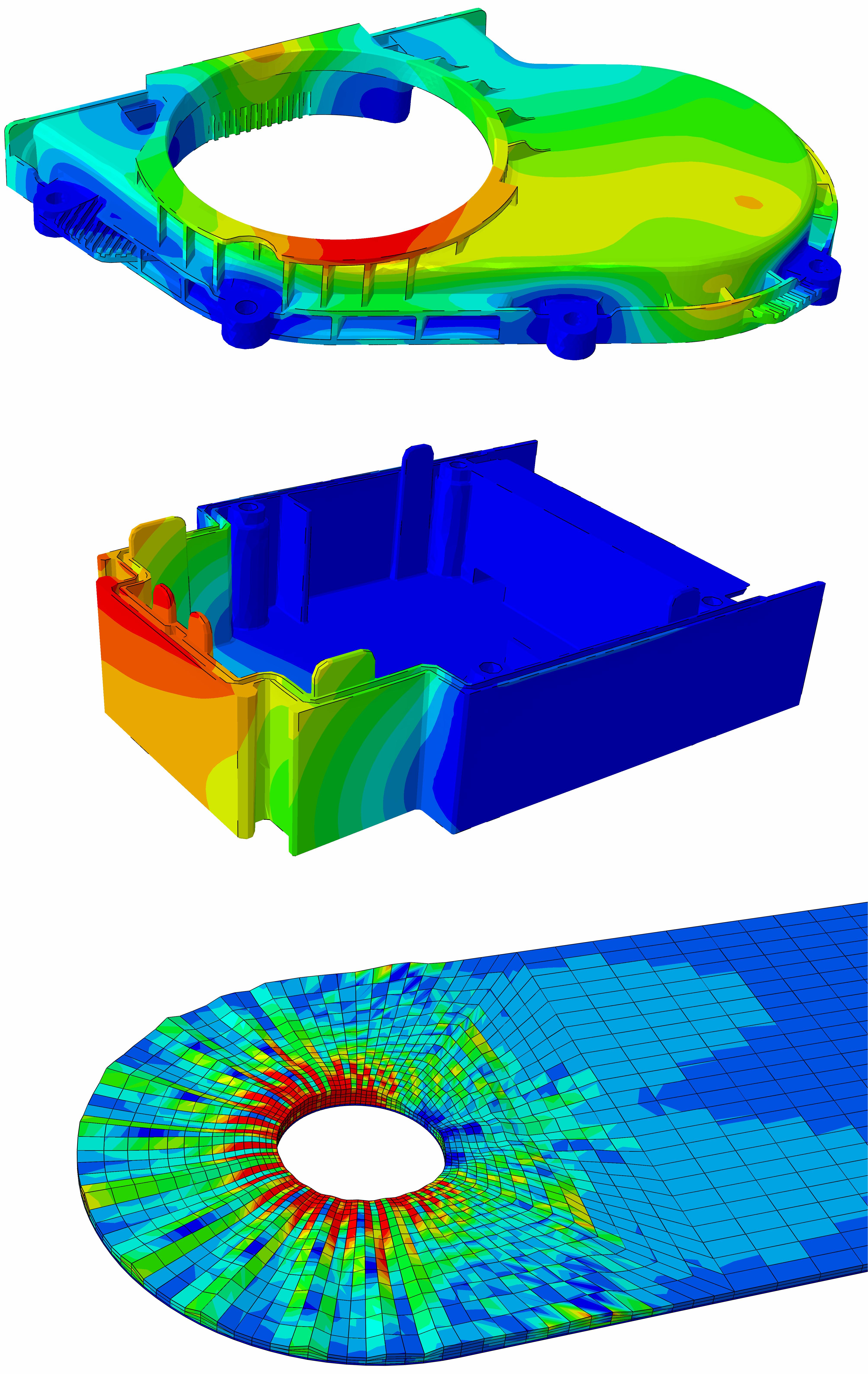 thermomechanische Beanspruchung eines Getriebedeckels / Verzugsanalyse Kunststoffgehäuse / Schädigungsverhalten TFP-Struktur unter Bolzenlast