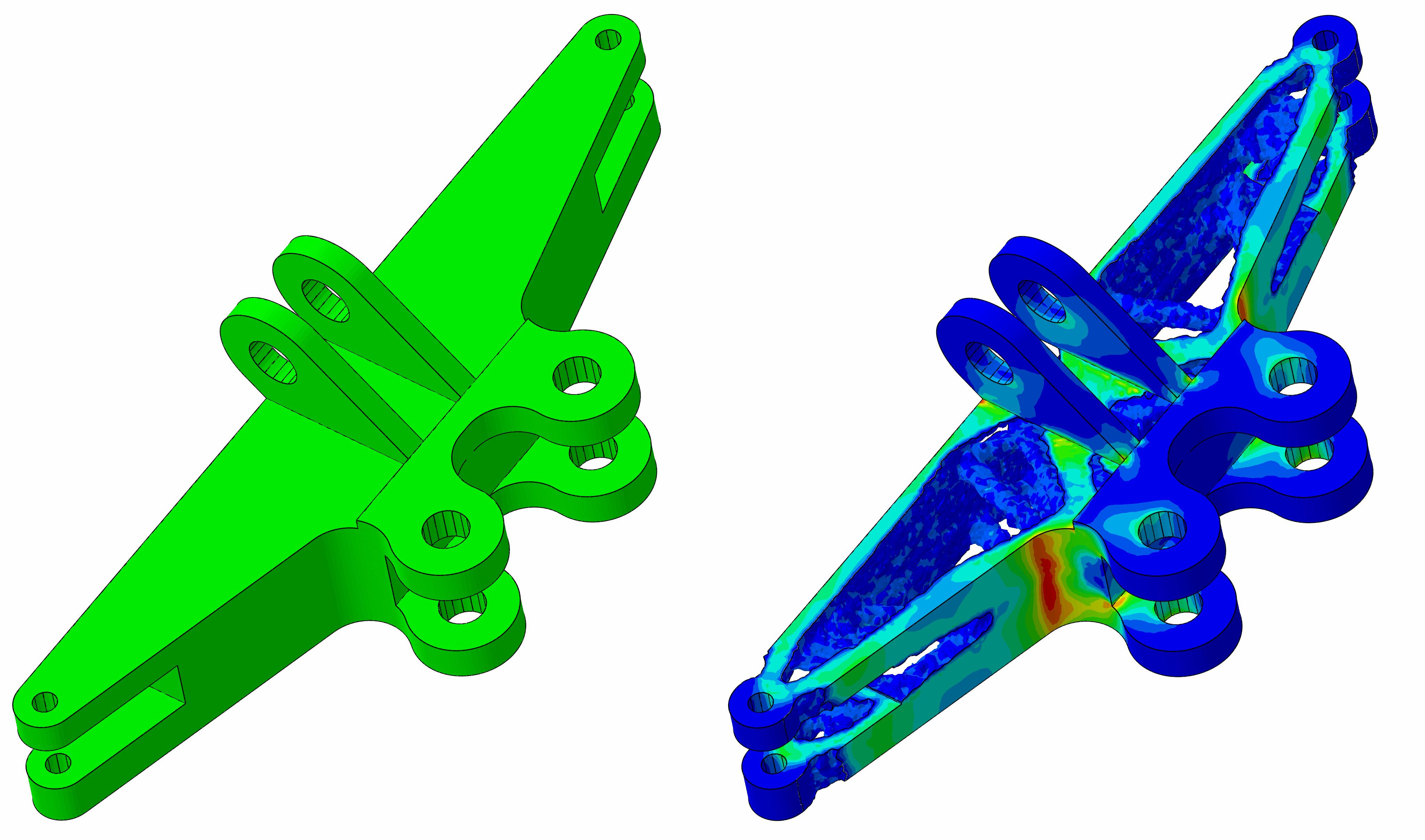 Topologieoptimierung einer Triebwerkskomponente